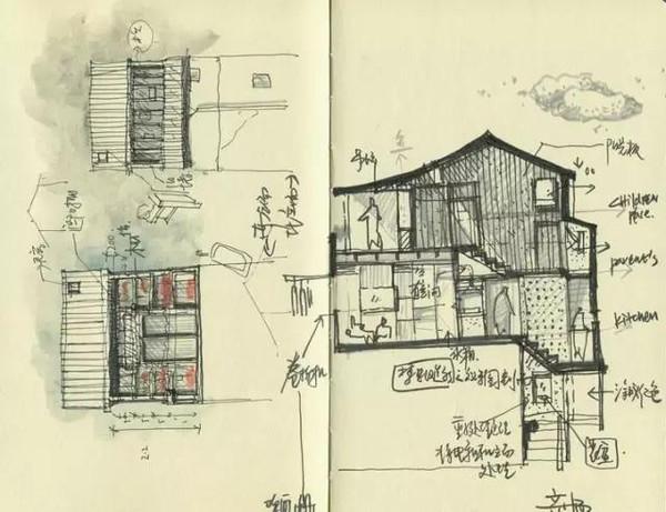 别墅内部楼顶结构图