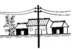 五,住宅门前有柱子丶大树甚至电线杆图片