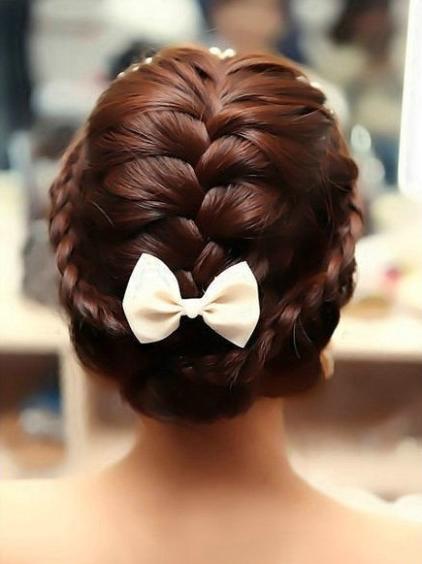 欧美风梦幻婚礼发型图片
