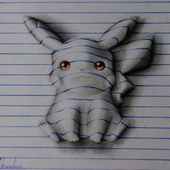 铅笔绘出3d画(组图)