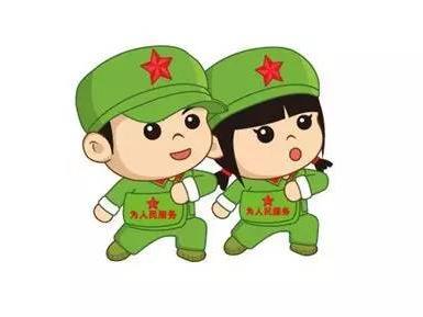 解放军卡通图片