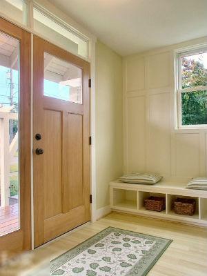 进门玄关收纳凳装修效果图