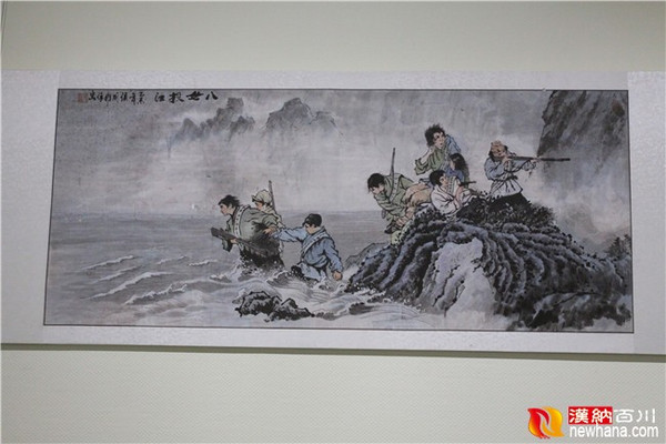 """法西斯战争胜利70周年,以""""英烈祭民族魂中国梦""""为主题的大型书法,绘画图片"""