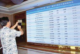 参会人员关注临汾煤炭交易会交易报单情况。邱沿铭摄