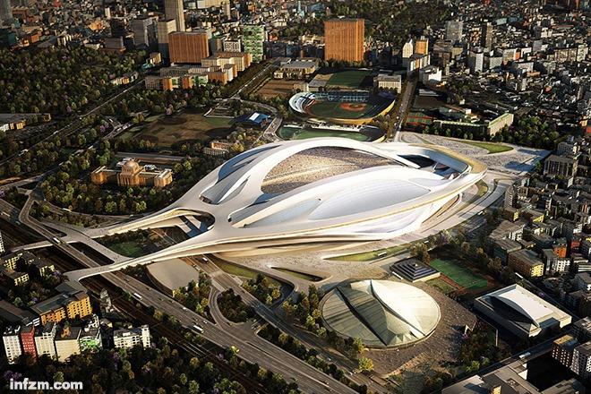"""建筑师藤本壮介质疑扎哈·哈迪德的设计:""""这座体育馆与周边环境、建筑的尺度完全不符……这个设计的尺度太大了。"""" (南方周末资料图/图)"""