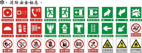 灭火器cad图标-新版消防标志8月起实施 紧急出口改为安全出口