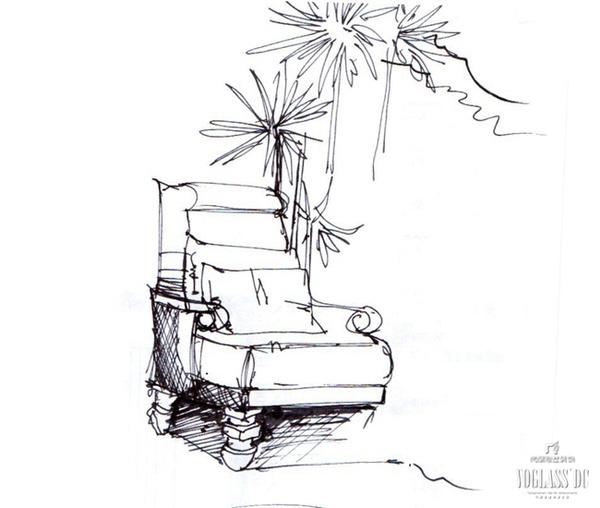 室外座椅设计手绘