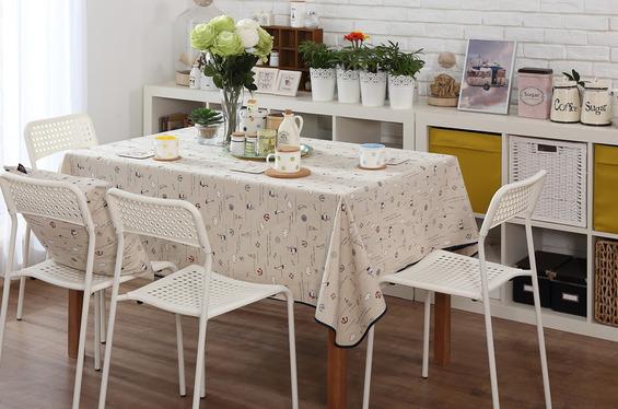 餐厅设计 餐桌台布选择技巧