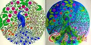 插画 神器/同一种插画涂出完全不一样的效果。