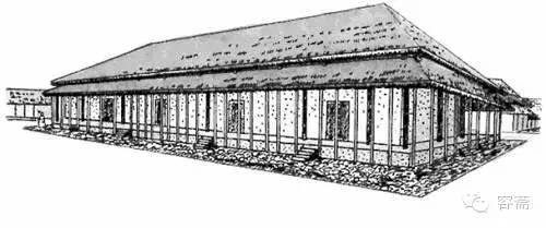 这是中国古代建筑以后历代发展的基础.  周朝的召陈遗址复原图