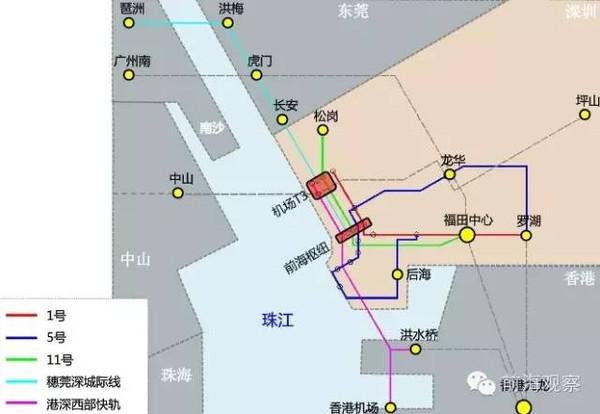 前海直达东莞市区,深圳东莞地铁相连图片