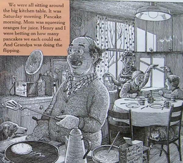绘本在线阅读:《阴天有时下肉丸》