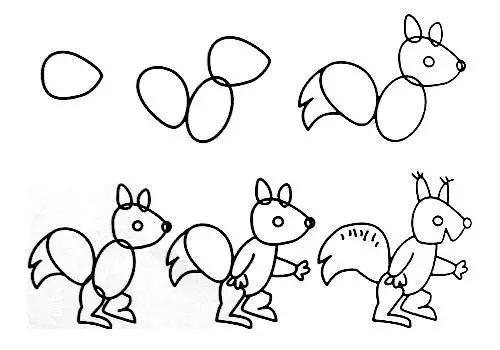 教师篇】幼儿园动物简笔画教程大全(家长也可收藏)-幼儿简笔画教图片