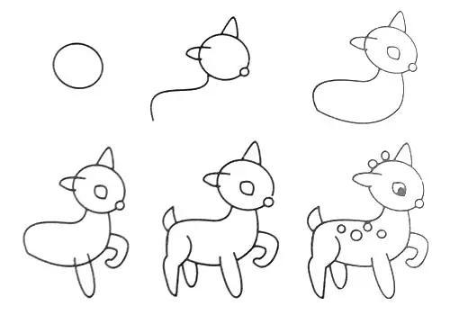 幼儿园动物简笔画-幽梦影的办公空间