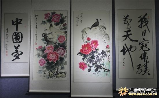 纪念抗战胜利70周年 竹林书画社办书画展图片