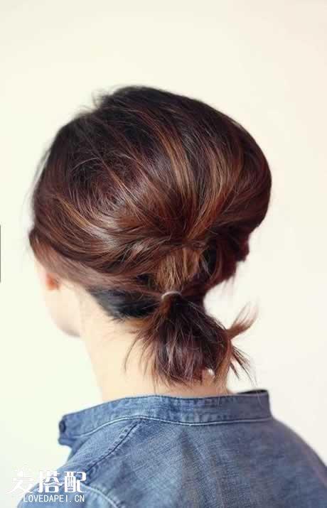 17. 短发女生也想尝试马尾,就试试这种短发马尾吧.图片
