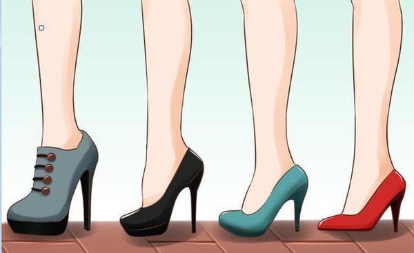 女人,正确的穿高跟鞋走路技巧