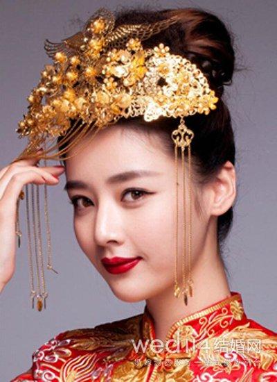 古装新娘发型图片 温文尔雅显大气