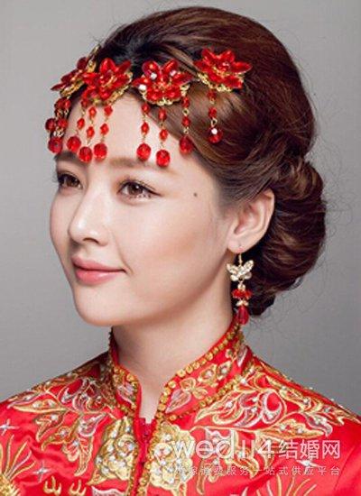 古装新娘发型图片 温文尔雅显大气图片