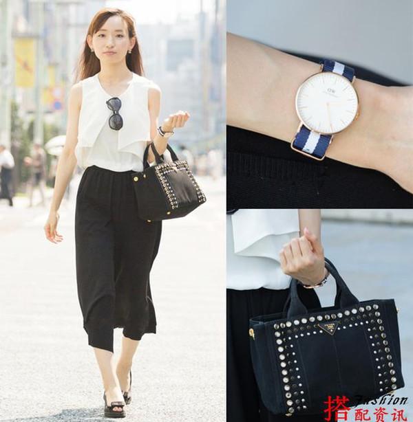 日本美女街拍 穿出8月时尚潮流