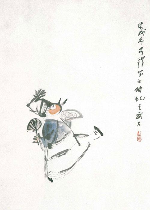中国画小动物萌萌哒