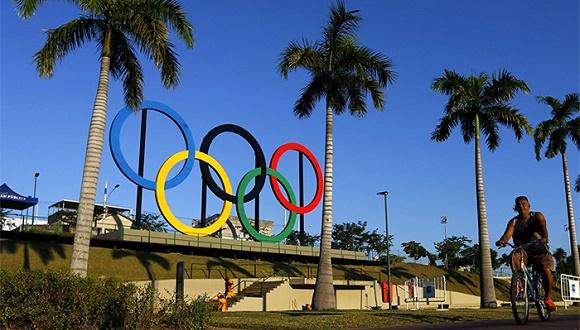 位于里约热内卢的奥运五环.(图片来源:网络)图片