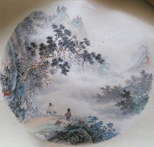 张之鹰山水画作品欣赏