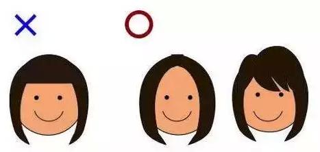 圆脸代表:赵丽颖 发型:中分
