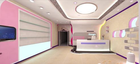 美容院装修效果图之空间气氛图片