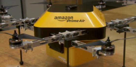 亚马逊公司2013年在美国新闻节目《60分钟》中首次提及的快递无人机。