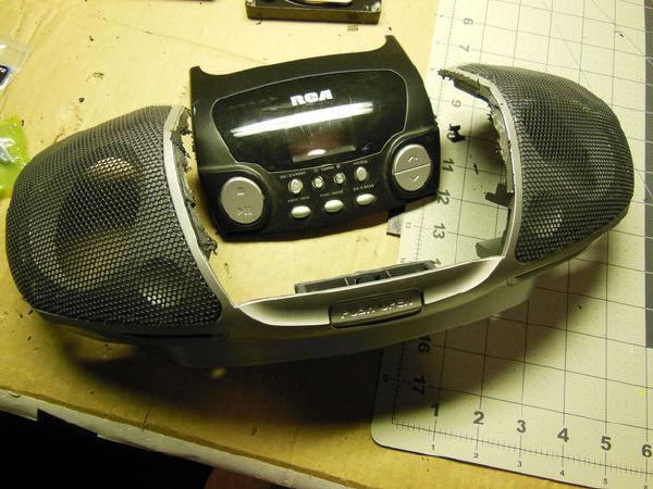 diy:拆了收录机,做个机器人