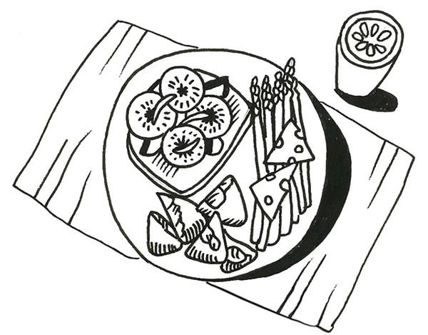 饭菜简笔画-一人食的真相究竟是