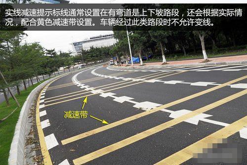 道路交通标线 中间白虚线,两边方格子是什么意思