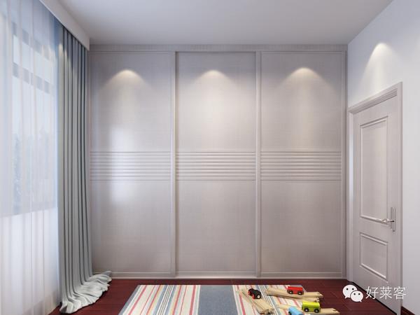 如果卧室墙不是承重墙,可以做入墙式衣柜,有效利用空间.图片