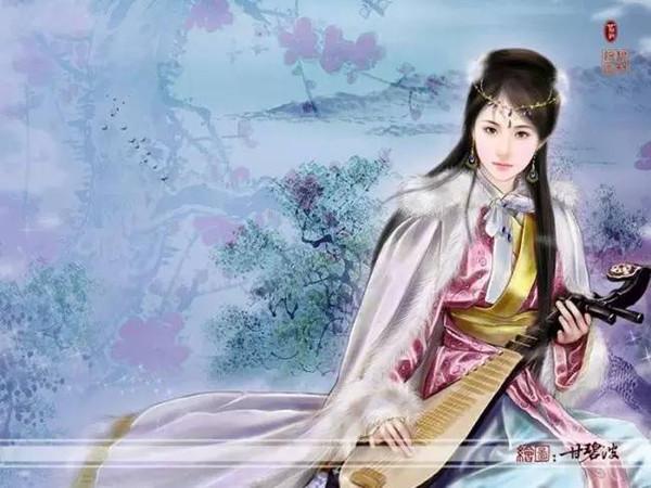古代手绘美女宫廷公主