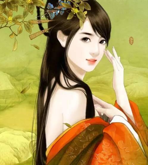 古典美女手绘皇后