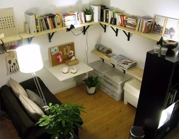 卧室墙面置物架_我改造了出租房,连房东都爱我,哈哈哈_搜狐其它_搜狐网