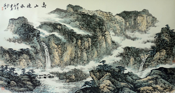 警察画家倪建春山水画作品欣赏图片