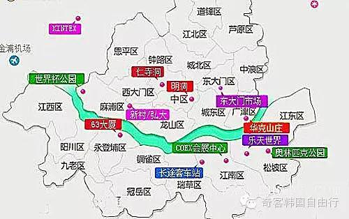 首尔景点手绘地图