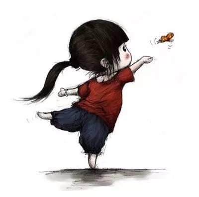春天给她扎起小辫子,带她到郊外抓蝴蝶图片