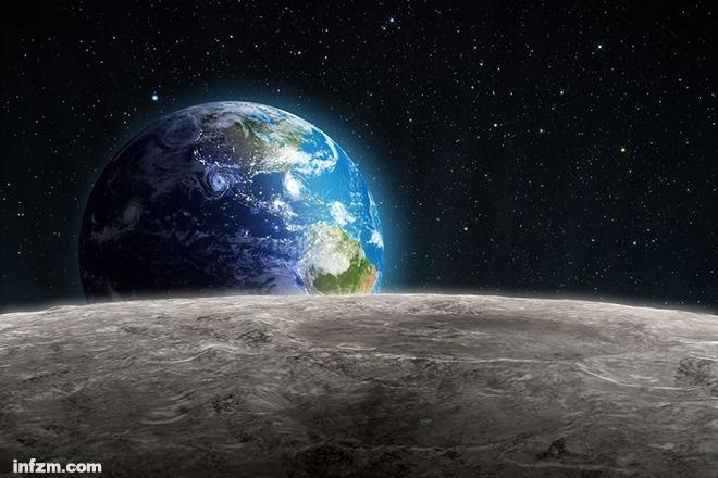 月亮挑着一个太阳