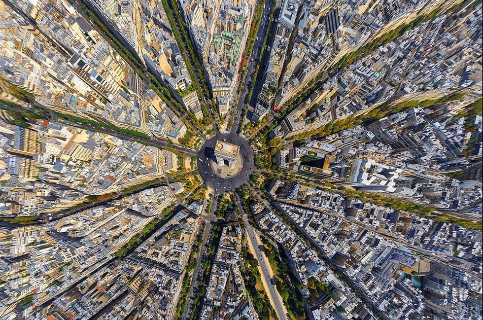 震撼航拍影像:纽约曼哈顿俯瞰如同电路板(组图)