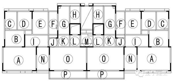 b、梁模板加工图:绘制梁模板平面图、立面图、断面图,标注模板规格、螺杆间距、加固体系、支撑体系、梁侧板与墙柱