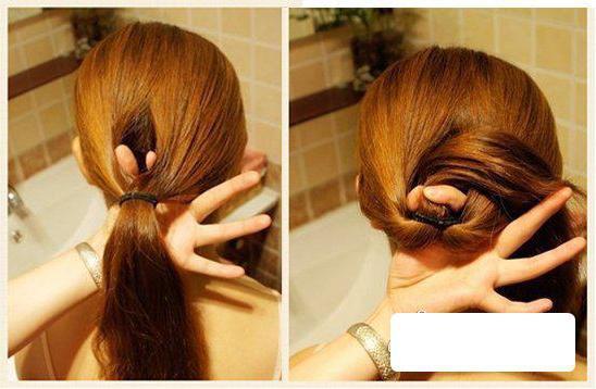 此步骤需要稍微用力,如果不注意的话可能会拉扯到头发,第一次不成功的图片