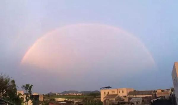 好运来 汕头等地出现台风天双彩虹