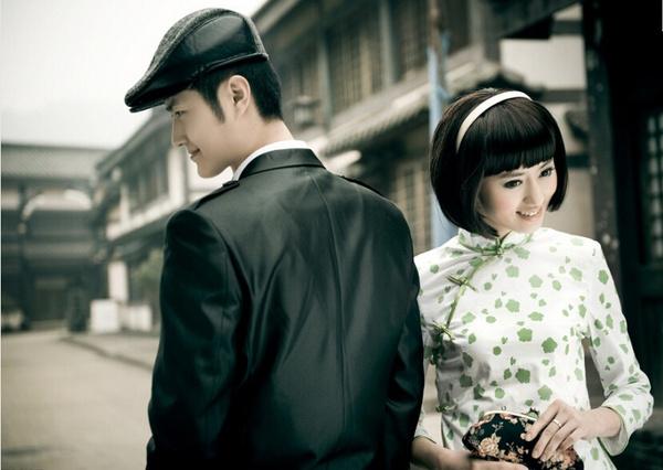 北京婚纱摄影 复古旗袍婚纱照图片