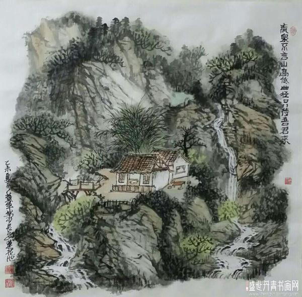 盛世丹青书画网:肖军说画图片