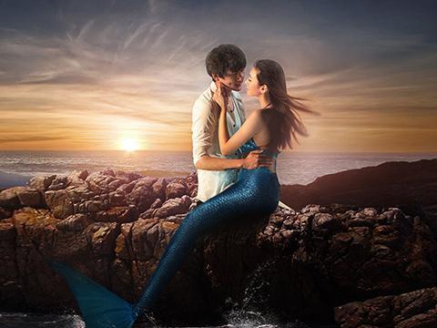 情侣海边拍照姿势大集锦图片