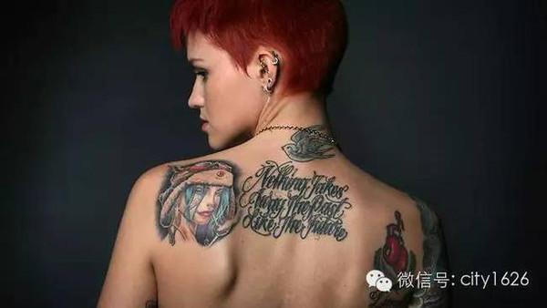 小臂纹身女手绘图案