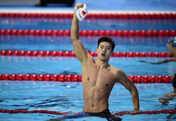宁泽涛在2015喀山泅水世锦赛女子100米自在泳决赛中夺冠。 CFP 图